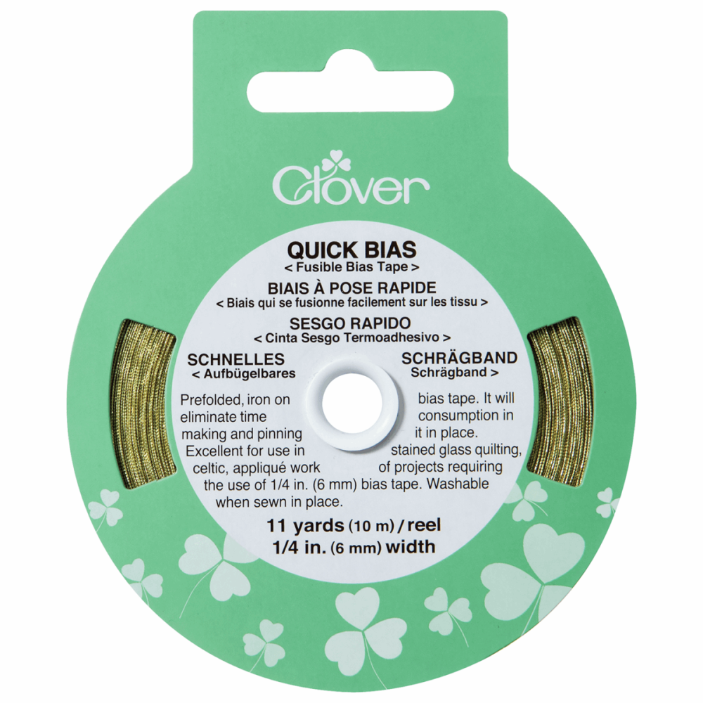 Clover Quick Iron On Bias Tape - Gold Tape