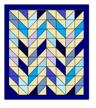 Double Herringbone Quilt Pattern - paper copy