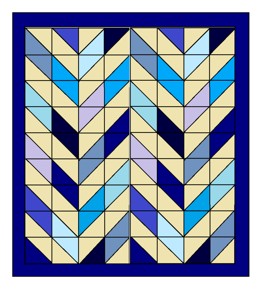Double Herringbone Quilt Pattern -  Digital Download only