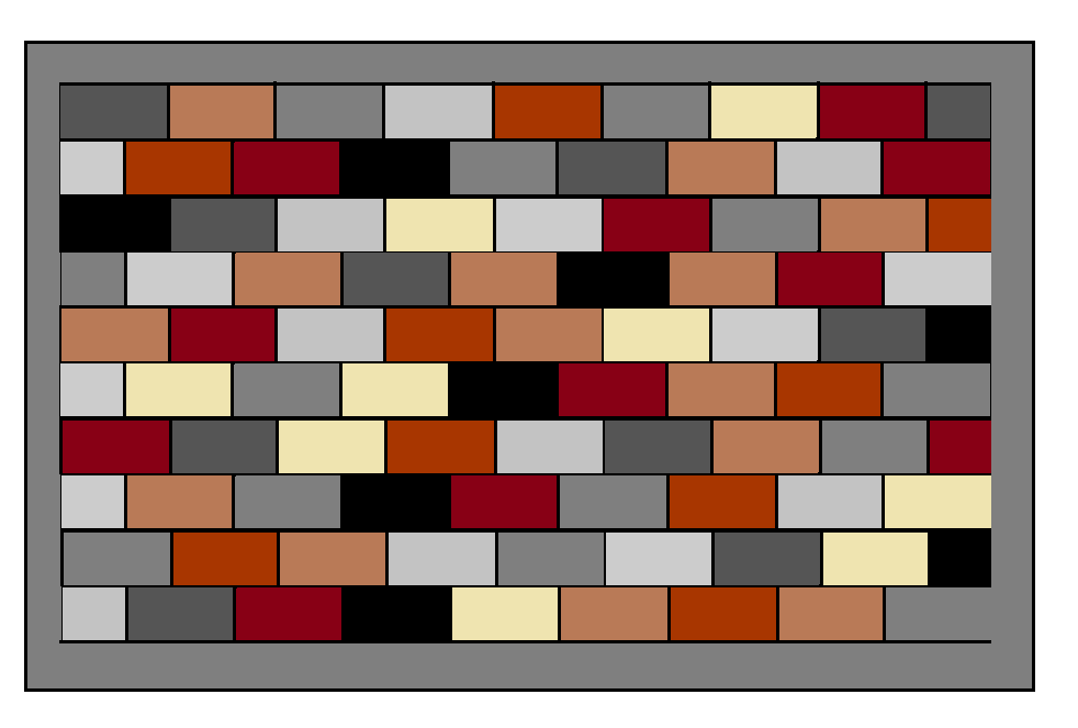 Brick Quilt Pattern - Paper Copy