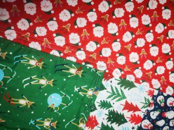 Christmas Cushion Cover Santa/Skiing Reindeer! ( no inner cushion pad)