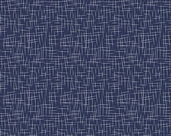 Riley Blake Flannel Basics - Navy with White Hashtags
