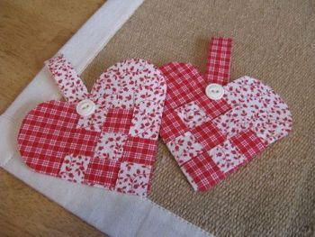Fabric Woven Heart Template (digital download)