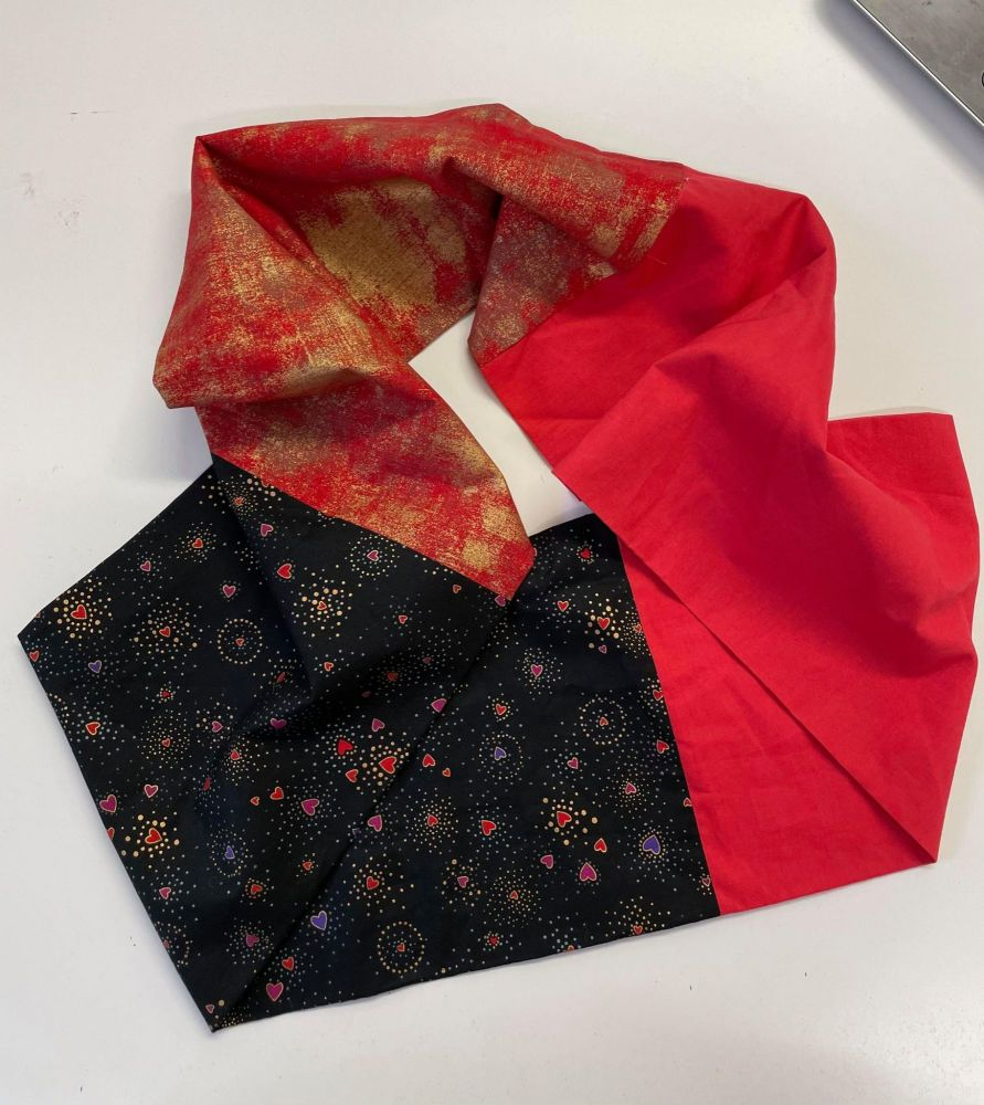 Infinity Scarf - Black and Red