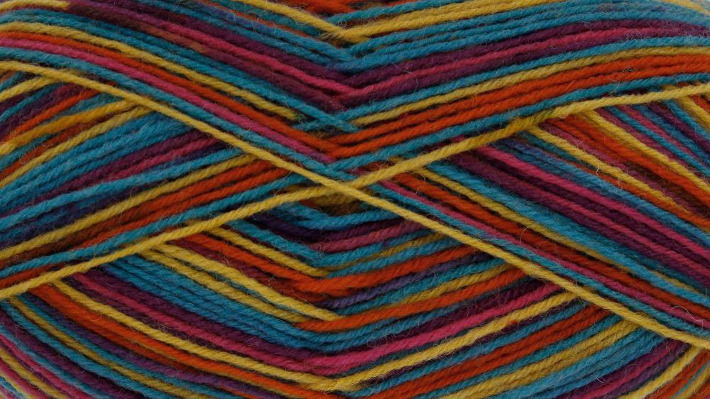 King Cole Zig Zag Sock Yarn Kaleidoscope