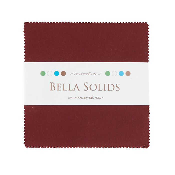Moda Bella Solids Charm Pack - Burgandy MCS9900 18
