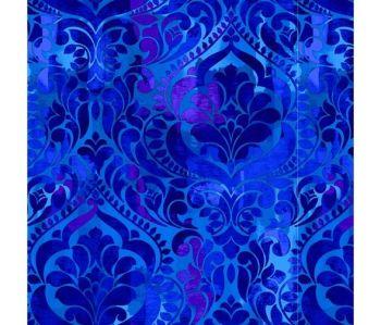 """Fiorenza Digital printed 108"""" wide  - Blue"""