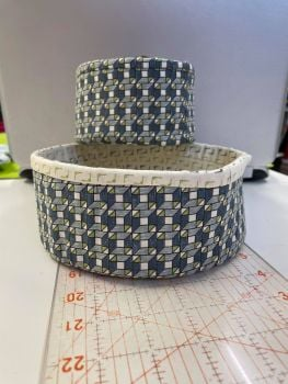 Two round fabric baskets - Janet Clare Geometry