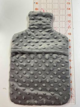 Hot water bottle cover - Grey minky
