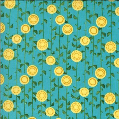 Solana Sunflowers on Turquoise 48683 17
