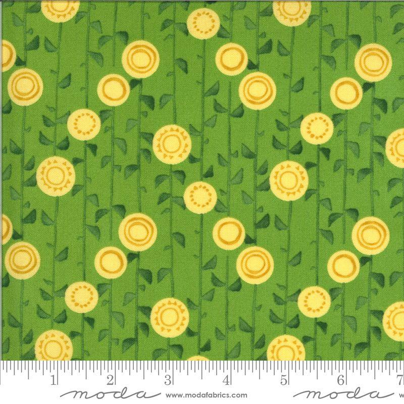 Solana Sunflowers on green  48683 15