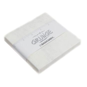 Grunge Charm pack - Moda Paper White 30150 101