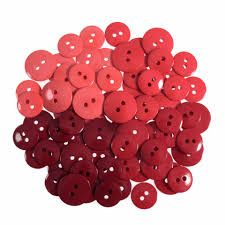 Trimits Waterfall Buttons - Pinks to Red