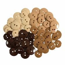Trimits Waterfall Buttons - Buff to Browns