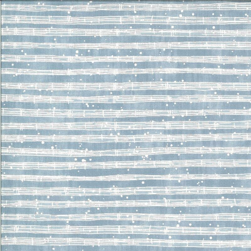 The Blues by Janet Clare for Moda - Parker light blue music staves 16900 14