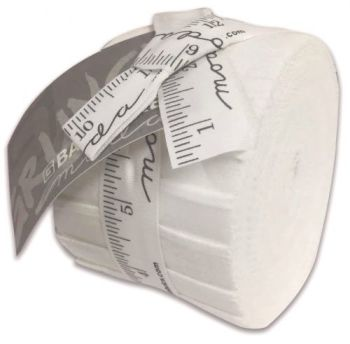 "Junior Jelly Roll - Moda grunge Paper White  - 20 x 2.5"" strips"