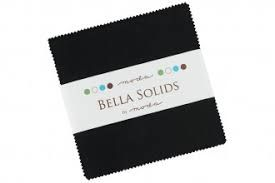 Moda Bella Solids Charm Pack - Black 9900PP 99