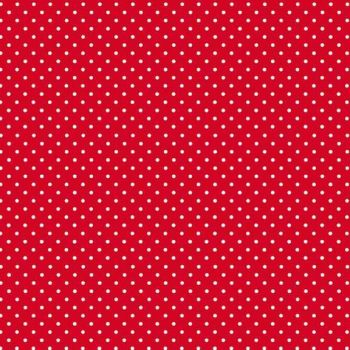 Makower Spots - R Red with white spots