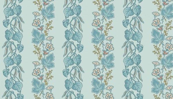 5m sealed Bolt - Edyta Sitar Super Bloom Light Blue floral & leaves
