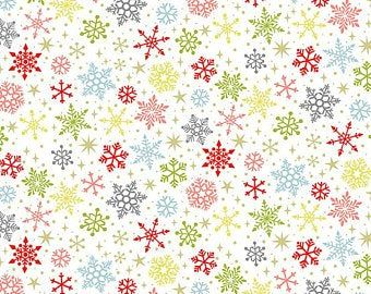 Makower  Colourful  snowflakes 2231_W