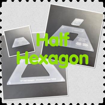 "10""  Half Hexagon Ruler with Diamond Insert"