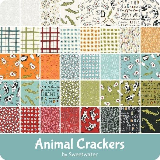 Animal Crackers by Moda - cotton & flannel