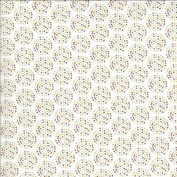 Animal Crackers By Sweetwater for Moda - Vanilla/multi colour dots Brushed cotton/flannel