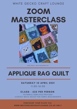Zoom Masterclass - Applique Rag Quilt: 10.04.21