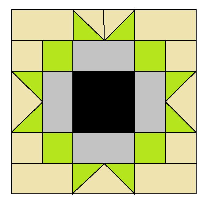Maple Star Block Pattern - digital download