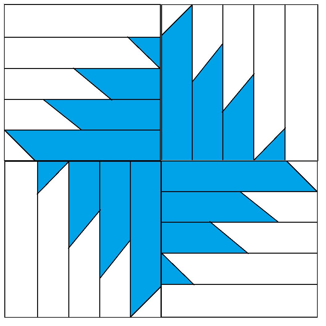 Buzzsaw Block Pattern - digital download