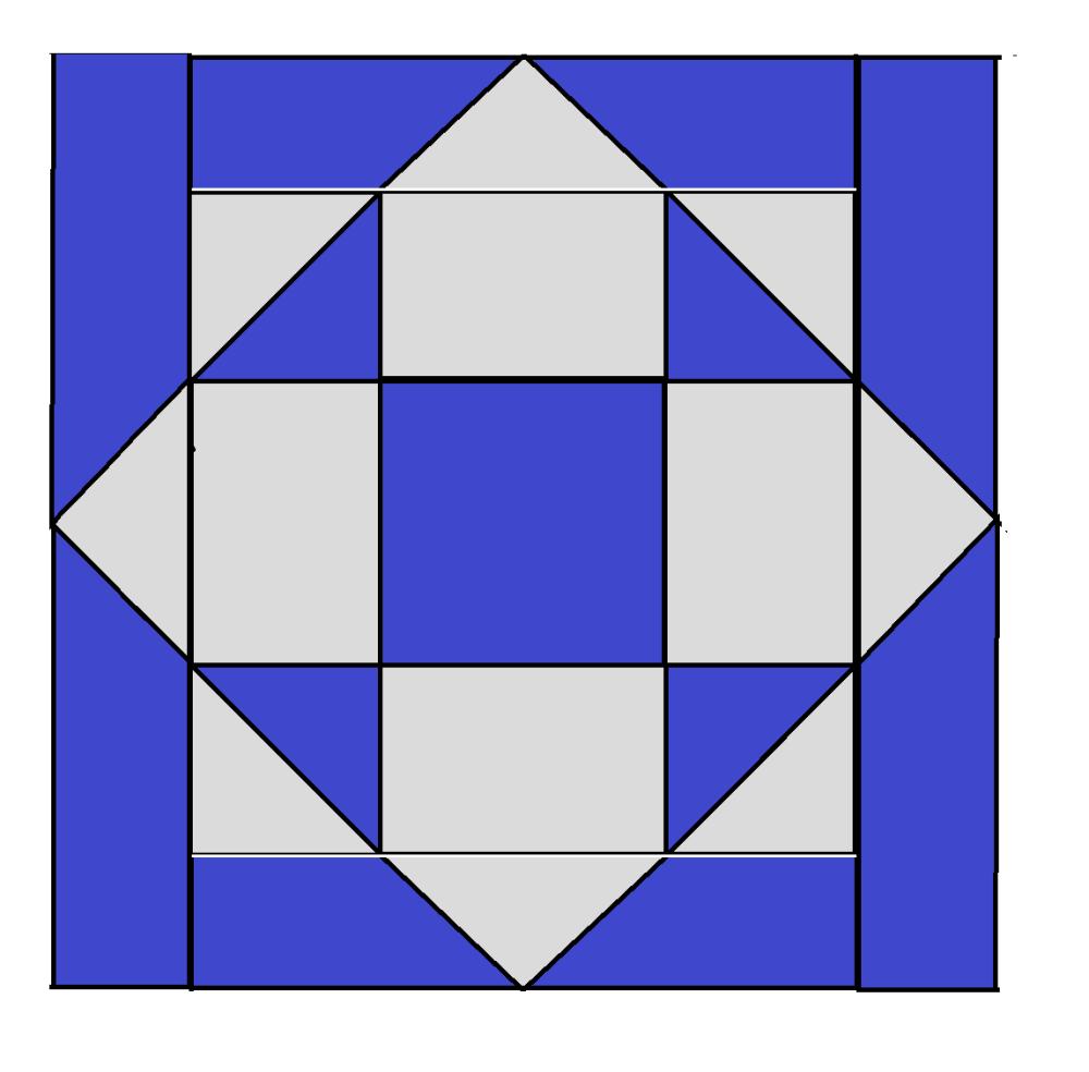 Chubby Star Block Pattern - digital download