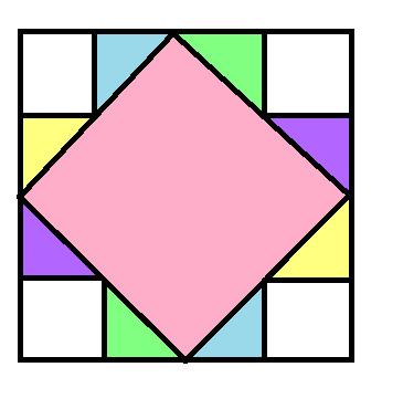 Classic Art Square Block Pattern - digital download