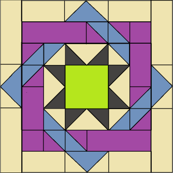 Labyrinth Quilt Block - digital download