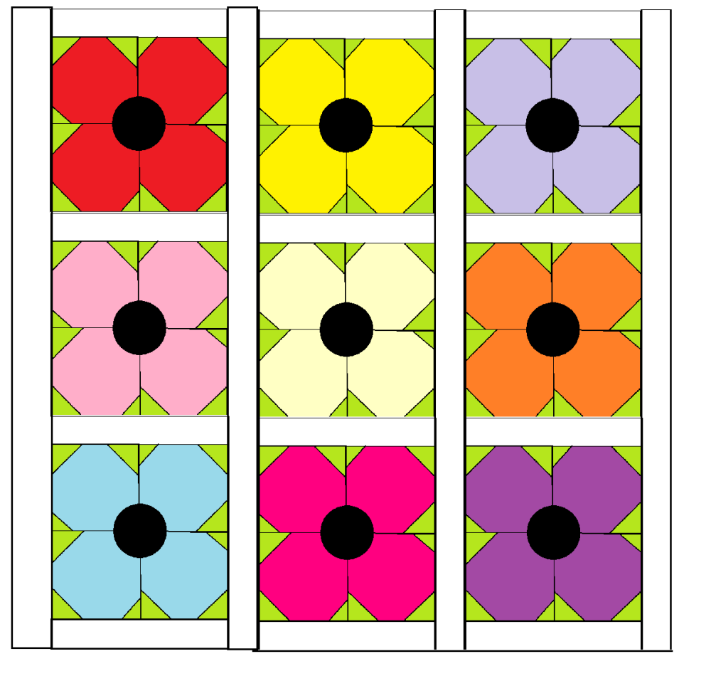 Poppy Quilt Block - digital download