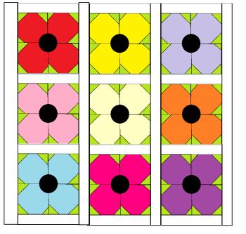 Poppy Quilt Block - digital download