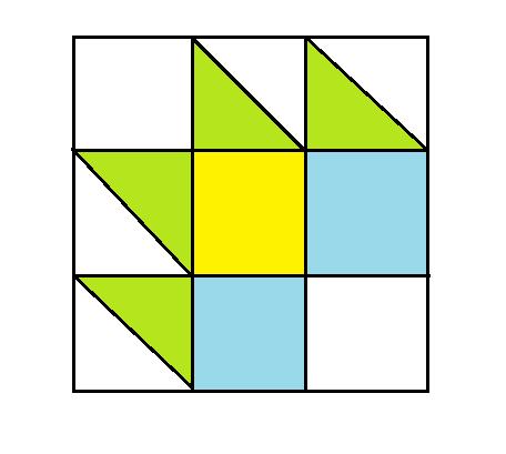 Tea Leaf Quilt Block - digital download