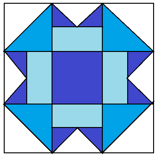 3D illusion Quilt Block - digital download