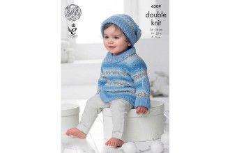 King Cole Knitting Pattern - 4309