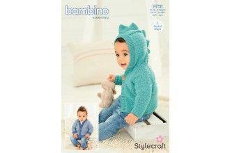 Stylecraft Bambino Knitting Pattern - 9758
