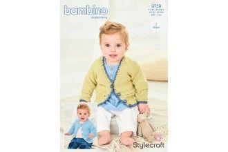 Stylecraft Bambino Knitting Pattern - 9759