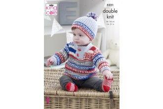 King Cole Knitting Pattern - 5221