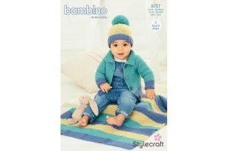 Stylecraft Bambino Knitting Pattern - 9757