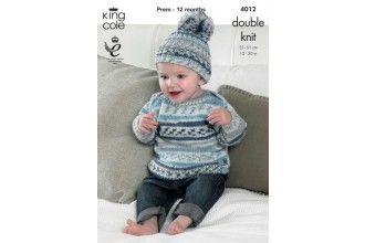 King Cole Knitting Pattern - 4012