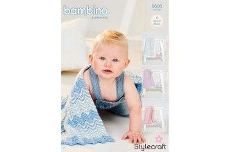 Stylecraft Bambino Knitting Pattern - 9506
