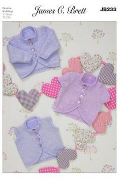 James C Brett Knitting Pattern - JB233