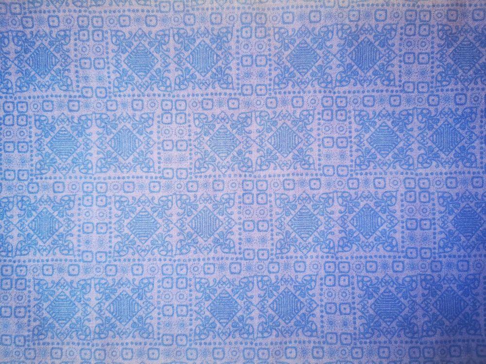 Job Lot 3m Littondale Hyacinth purple with blue tile design