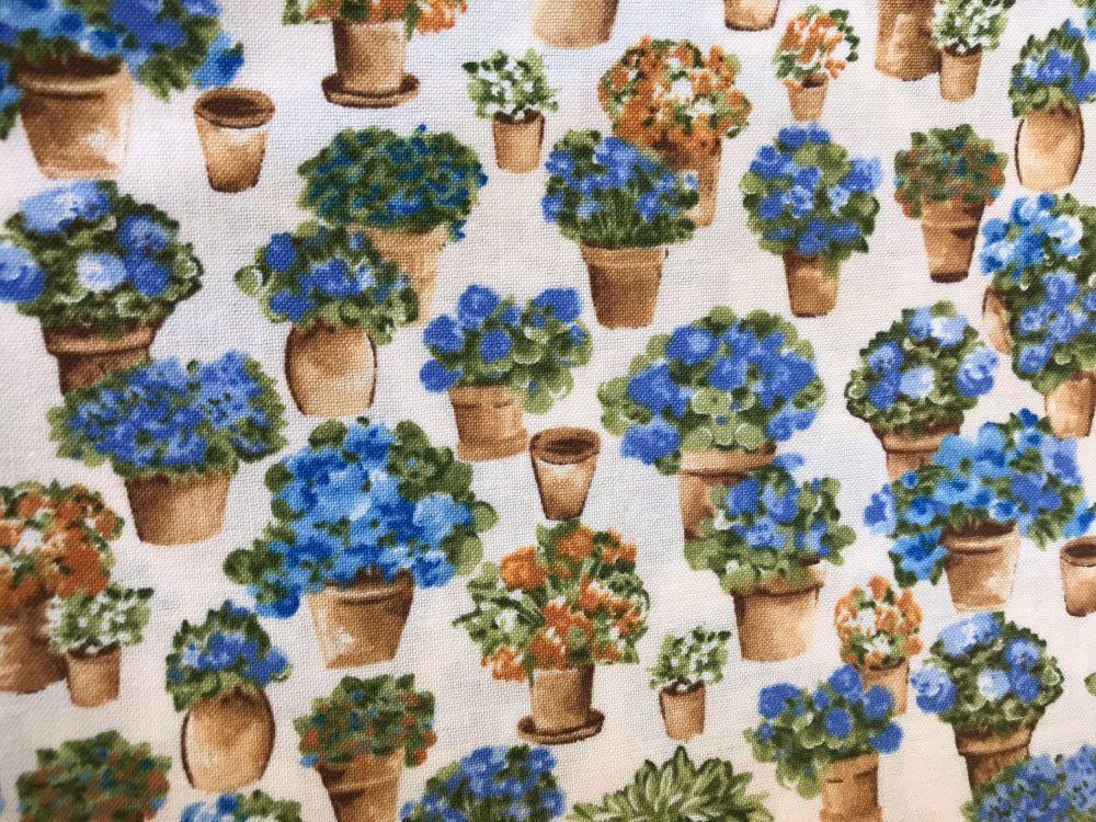 Job Lot 3m Littondale Blue & Orange Flowers in pots