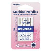 Hemline Machine Needles Universal Size - 70/10
