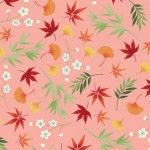 Makower Michiko - Foliage Pink 2333 P