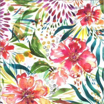 Moda - Moody Bloom by Create Joy Project White, Large Flowers 8441 11D